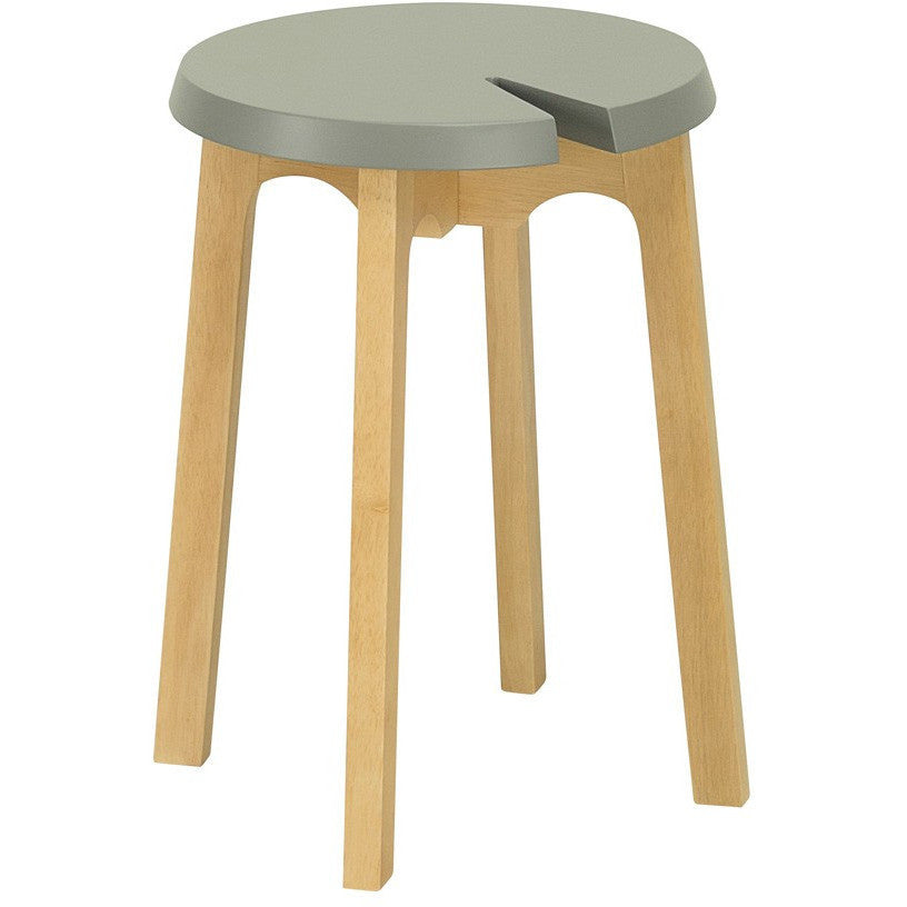 Chevis Stool in Grey