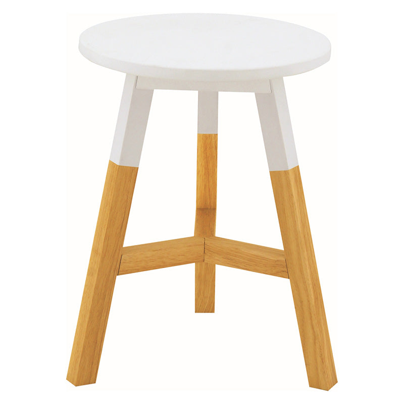 Reba Stool Natural Leg and White Top