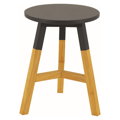 Reba Stool Natural Leg and Graphite Grey