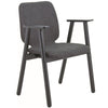 Missie Arm Chair - Black + Dark Grey