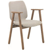 Missie Arm Chair - Cocoa + Light Grey