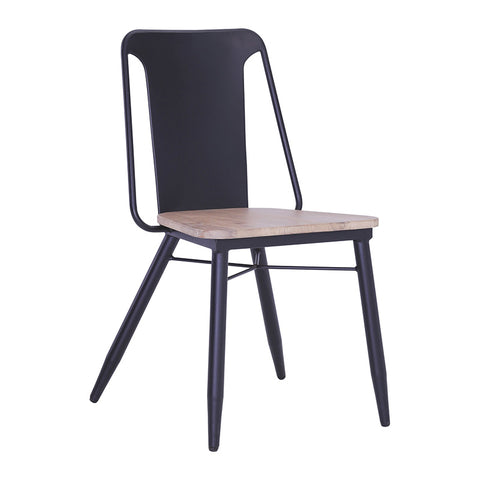 BINDER Dining Chair - Black & Taupe