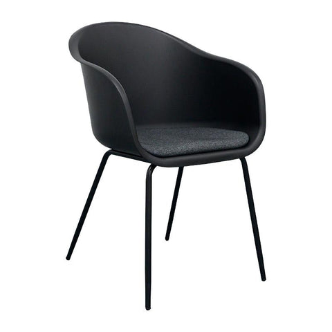 COLLEEN Dining Chair - Black & Paloma