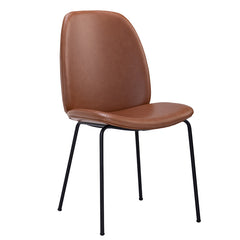 ADELIA Dining Chair - Hazelnut Brown & Black