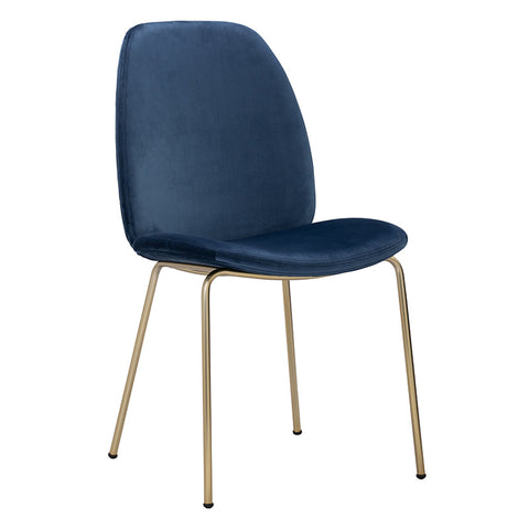 ADELIA Dining Chair - Blue & Gold
