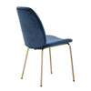 ADELIA Dining Chair - Jungle Green & Gold