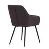 HAKON Dining Chair - Brunette & Black