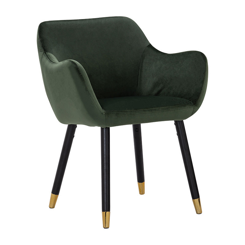 AILIN Dining Chair - Olive & Black