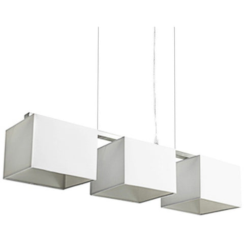 White Trio Pendant Lights