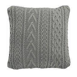 Light Grey Multi Cable Knit Cushion