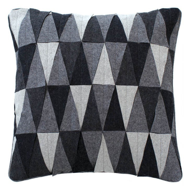Triangle Mix Applique Cushion