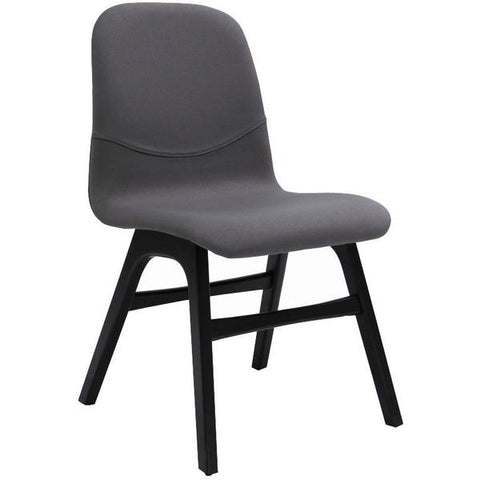Ava Dining Chair - Paloma Grey + Black