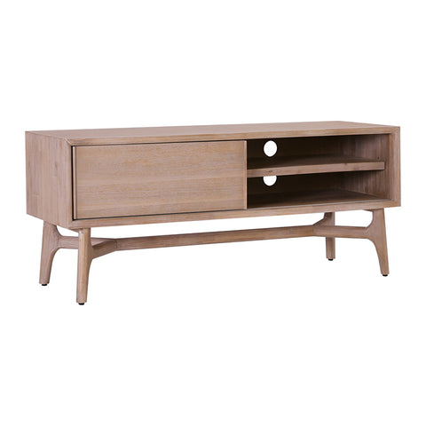 CORBIN TV Entertainment Unit 130cm - Acacia Solid Wood - Havana Sandblast Colour