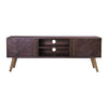SIVAN TV Entertainment TV Unit 165cm Acacia Solid Wood - Brown