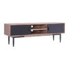 BINDER TV Entertainment Unit 165cm Acacia Solid Wood - Black & Taupe