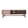 CORBIN TV Entertainment Unit 165cm - Acacia Solid Wood - Havana Sandblast Colour
