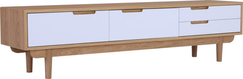 NAKULA 180cm White Oak TV Entertainment Unit