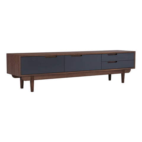 NAKULA TV Entertainment Unit - 180cm - Grey & Walnut