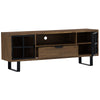 BRINHILL Solid Wood 1.8m TV Entertainment Unit - Walnut