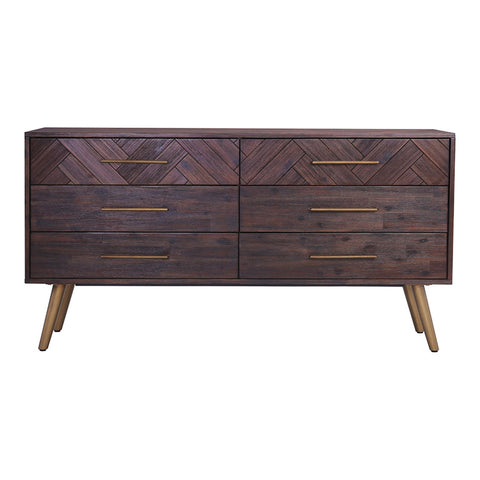 SIVAN Dresser 6 Drawers 155cm Acacia Solid Wood - Brown