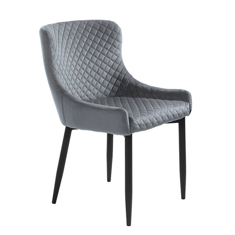 DANYA Dining Chair - Grey Velvet