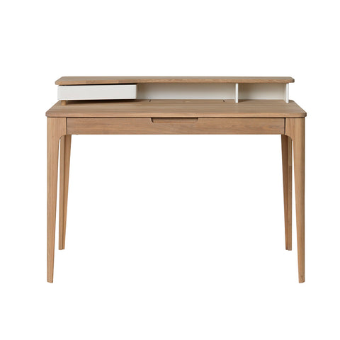 SIENNA Study Desk 120cm -  Natural & White