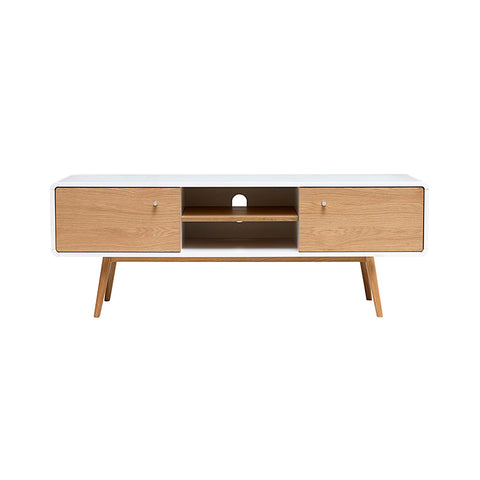 KAISU Entertainment TV Unit 150cm -  Natural & White