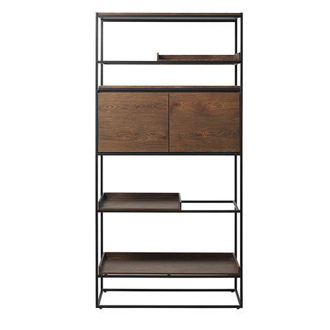 RIVOLI Display Unit 1.80M - Smoke Oak