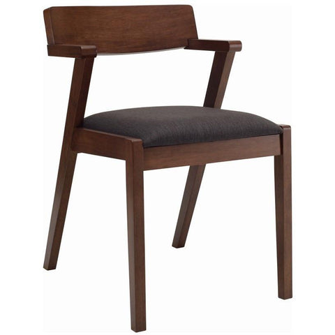 Zola Dining Chair In Mud Colour Fabric Seat