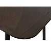 LATINA Extendable Dining Table 180/230cm -  Dark Brown & Black