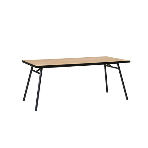 CALVI Dining Table 180cm -  Natural/Black