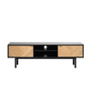 CALVI TV Entertainment Unit 160cm - Natural & Black