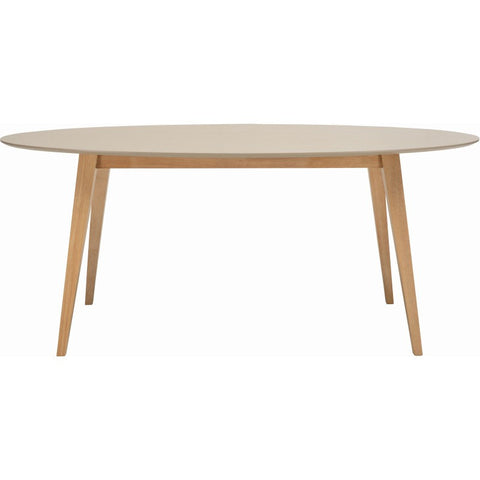 Platon Oval Dining Table In Taupe Grey
