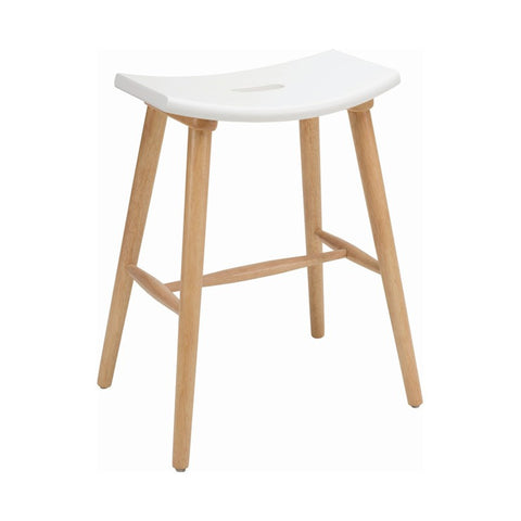 Hollis Counter Stool in Lacquered White