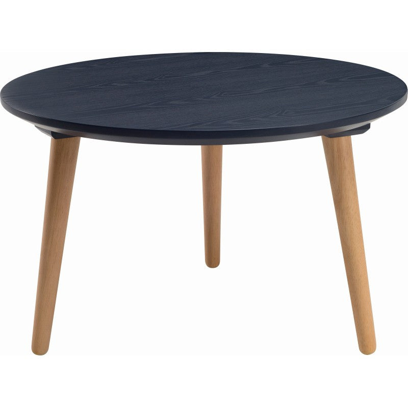 Carsyn Round Coffee Table In Marine Blue