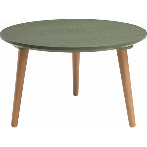 Carsyn Round Coffee Table In Pickle Green