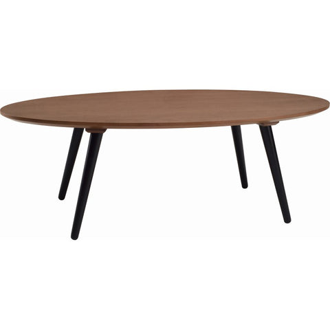 Carsyn Oval Coffee Table In Cocoa