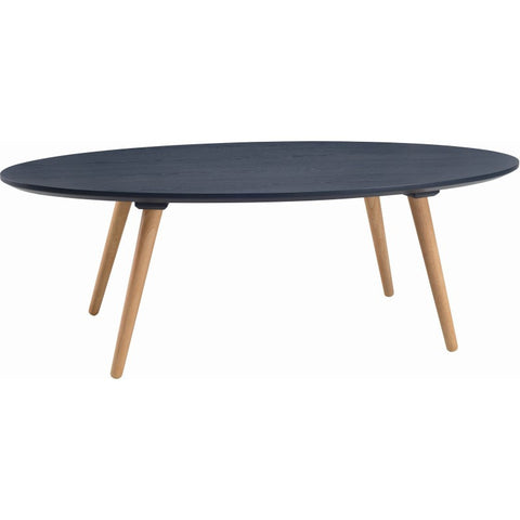 Carsyn Oval Coffee Table In Marine Blue
