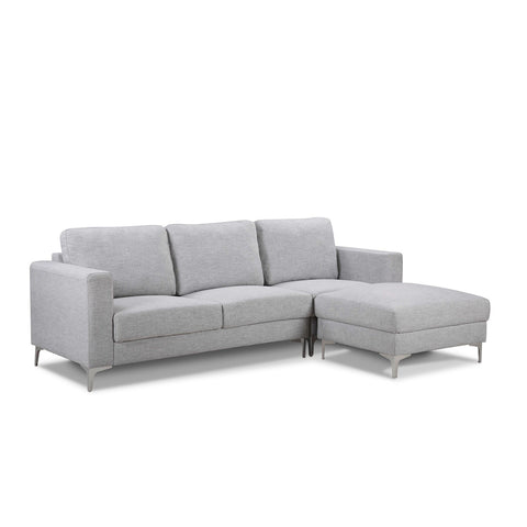 Rummer 3 Seater Sofa + Ottoman - Light Grey
