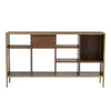 WILLINGHAM Low Bookcase - Brass & Wood