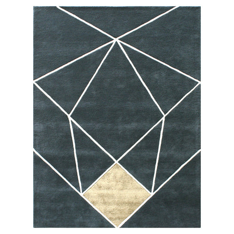 AURUM Rug 1.7m x 2.4m - Blue Colour