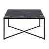 ALISMA Glass Coffee Table 80cm - Black