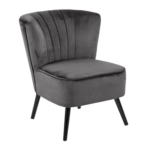 LEILA Lounge Chair - Dark Grey