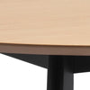 DALLA Dining Table  105cm - Natural & Black