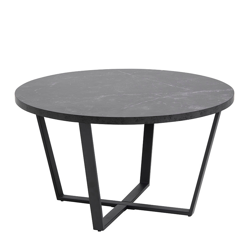 LOTTA Round Coffee Table 77cm - Black