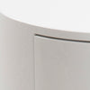 POLON Bedside Table 40cm - White & Black