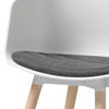 LIDAN Dining Chair - White & Natural