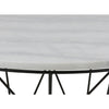 DARBY Coffee Table Marble 80cm - White
