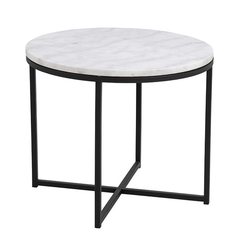 JOSS Side Table Marble 55cm - White