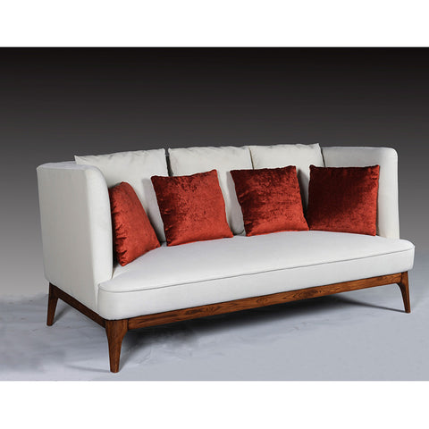 ISA 3 Seater Sofa Ivory & Walnut